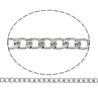 Łańcucha krawężnika ze stali nierdzewnej, Stal nierdzewna, różnej wielkości do wyboru & łańcucha krawężnika, oryginalny kolor, 50m/torba, sprzedane przez torba