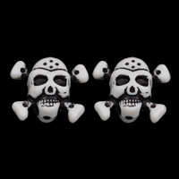 Antique Acrylic Beads, Skull, Imitation Antique, white, 29x25x17mm, Hole:Approx 2mm, Approx 100PCs/Bag, Sold By Bag