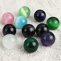 Cats Eye Jewelry Beads, Round, no hole, more colors for choice, 19-20mm, Sold By PC