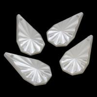 ABS пластик жемчужина подвеска, Каплевидная форма, белый, 12x24x5mm, отверстие:Приблизительно 1mm, Приблизительно 717ПК/сумка, продается сумка