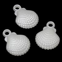 ABS пластик жемчужина подвеска, Раковина, белый, 19x25x7mm, отверстие:Приблизительно 2mm, Приблизительно 396ПК/сумка, продается сумка