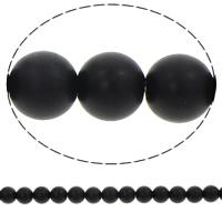 Ronde kristal kralen, synthetisch, verschillende grootte voor keus & frosted, Jet, Gat:Ca 1mm, Per verkocht Ca 15.5 inch Strand