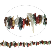 Biwa Cultured Freshwater Pearl Beads, mixed colors, 12x2mm-30x6mm, Hole:Approx 0.8mm, Sold Per Approx 16 Inch Strand
