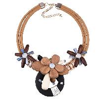 Дерево ожерелье, Искусственная кожа, с Нейлоновый шнурок & Кристаллы & деревянный & цинковый сплав, с 3.9lnch наполнитель цепи, Другое покрытие, 3-нить & граненый, 90mm, длина:Приблизительно 19.6 дюймовый, 3пряди/Лот, продается Лот