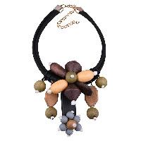 Дерево ожерелье, Искусственная кожа, с Кристаллы & деревянный & цинковый сплав, с 3.9lnch наполнитель цепи, плакирован золотом, 3-нить & граненый, 130mm, длина:Приблизительно 16.5 дюймовый, 3пряди/Лот, продается Лот