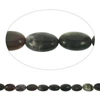 Luonnollinen Moss akaatti helmet, Flat Oval, 19x25x8mm, Reikä:N. 1mm, Pituus:N. 15.5 tuuma, 10säikeet/laukku, N. 16PC/Strand, Myymät laukku