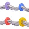 Силиконовые шарики, Силикон, Кольцевая форма, Много цветов для выбора, 7mm, отверстие:Приблизительно 3.2mm, 100ПК/сумка, продается сумка