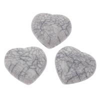 Акриловые Кабошоны, Акрил, Сердце, имитация бирюзы & плоской задней панелью, 25x26x6mm, Приблизительно 200ПК/сумка, продается сумка