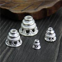 Srebrne końcówki koralików 925, Srebro 925, różnej wielkości do wyboru, sprzedane przez wiele