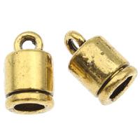 Końcówka ze stopu cynku, Stop cynku, Platerowane kolorem starego złota, bez zawartości ołowiu i kadmu, 6x10mm, otwór:około 2mm, 3mm, około 125komputery/torba, sprzedane przez torba