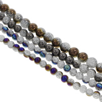Crackle Quartz Beads, Round, different size for choice, more colors for choice, Hole:Approx 1mm, Sold Per Approx 15.5 Inch Strand