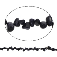 Natural Blue Goldstone Beads, Nuggets, 8x10x5mm-13x16x6mm, Hole:Approx 1mm, Approx 38PCs/Strand, Sold Per Approx 14.5 Inch Strand