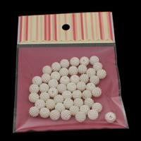 ABS пластик жемчужина Бусины, с OPP, Круглая, съемный, белый, 10mm, отверстие:Приблизительно 1mm, 50ПК/сумка, продается сумка