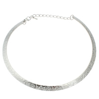 Ожерелья из металла, Железо, с 5cm наполнитель цепи, плакированный цветом под старое серебро, не содержит свинец и кадмий, 140x120x1.50mm, Продан через Приблизительно 15.5 дюймовый Strand