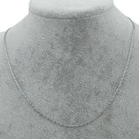 Stal nierdzewna Łańcuszek naszyjnikowy, owalne łańcucha, oryginalny kolor, 2x1mm, sprzedawane na około 17 cal Strand