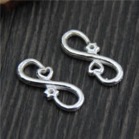 925 Sterling Silver Connectors, Infinity, 7.70x20.30mm, 6PCs/Lot, Sold By Lot