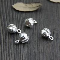 Кулоны из серебра, Серебро 925 пробы, Flower Bud, 8.80x13mm, отверстие:Приблизительно 2mm, 5ПК/Лот, продается Лот
