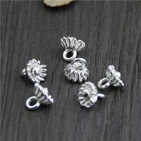 Кулоны из серебра, Серебро 925 пробы, Форма цветка, 9.20x8.70mm, отверстие:Приблизительно 2mm, 7ПК/Лот, продается Лот