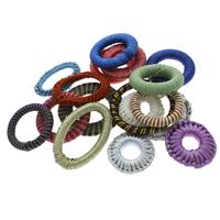 Нейлоновый шнурок Ювелирные кольца, с Железо, Кольцевая форма, Связанный вручную, разноцветный, 38x5mm-50x5mm, отверстие:Приблизительно 14-30mm, 100ПК/сумка, продается сумка