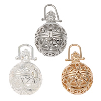 Pregnant Ball Locket Pendant, Brass, Round, plated, hollow, more colors for choice, lead & cadmium free, 23x33x23mm, Hole:Approx 4x7mm, Sold By PC