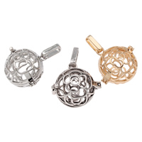 Pregnant Ball Locket Pendant, Brass, Round, plated, hollow, more colors for choice, lead & cadmium free, 25x24x19mm, Hole:Approx 4x7mm, Sold By PC