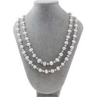 Natural Freshwater Pearl Long Necklace, Baroque, 7-8mm, Sold Per Approx 47 Inch Strand