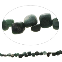 South African Jade Beads Nuggets natural 8x6mm-12x14x10mm Hole:Approx 1.5mm Approx 48PCs/Strand Sold Per Approx 15.5 Inch Strand