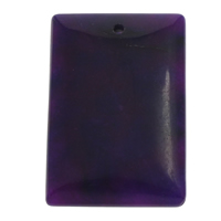 Dyed Jade Pendant, Rectangle, purple, 30x46x9mm-31x47x10mm, Hole:Approx 1.5mm, 20PCs/Bag, Sold By Bag