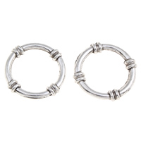 Zinc Alloy Linking Ring Donut antique silver color plated lead   cadmium free 25x3mm Hole:Approx 18mm 100G/Bag