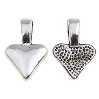 Zinc Alloy Glue on Bail, Heart, antique silver color plated, lead & cadmium free, 10x15x4mm, Hole:Approx 3x5mm, 100G/Bag, Sold By Bag