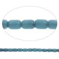 Blue Agate Beads, Column, different size for choice, Hole:Approx 1.5mm, Length:Approx 15 Inch, Sold By Bag
