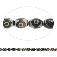 Tibetan Agate Beads, Oval, coffee color, 12x16mm, Hole:Approx 1.5mm, Length:Approx 14 Inch, 5Strands/Bag, Approx 22PCs/Strand, Sold By Bag