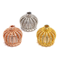 Cubic Zirconia Micro Pave Brass Beads Crown plated micro pave cubic zirconia lead   cadmium free Hole:Approx 2.5mm 5PCs/Bag