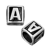Stainless Steel European Beads, Cube, without troll & blacken, 12x11mm, Hole:Approx 9mm, 30PCs/Lot, Sold By Lot