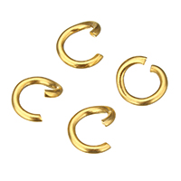 Stainless Steel Open Ring, gold color plated, different size for choice, 700PCs/Lot, Sold By Lot
