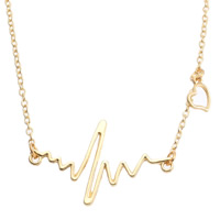 Zinc Alloy Jewelry Necklace, with 2.8lnch extender chain, gold color plated, oval chain, nickel, lead & cadmium free, Sold Per Approx 19.5 Inch Strand