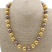 Ожерелье из ракушки Южного моря, южноморская ракушка, латунь Замочек-колечко, Круглая, 12mm, Продан через Приблизительно 17 дюймовый Strand