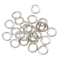 Iron Open Jump Ring, Donut, platinum color plated, lead & cadmium free, 4x1mm, Approx 2000PCs/Bag, Sold By Bag