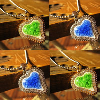 Porcelain Pendants, Zinc Alloy, with Porcelain, Heart, gold color plated, with rhinestone & crackle, more colors for choice, lead & cadmium free, 20-25mm, Hole:Approx 1-3mm, Sold By PC