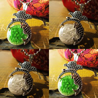 Porcelain Pendants, Zinc Alloy, with Porcelain, antique silver color plated, crackle, more colors for choice, lead & cadmium free, 20-35mm, Hole:Approx 1-3mm, Sold By PC