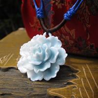 Porcelain Pendants, Flower, glazed, 15-30mm, Hole:Approx 1-3mm, Sold By PC