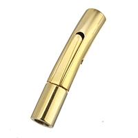 Zapięcie zskręcane e stali nierdzewnej, Stal nierdzewna, Platerowane w kolorze złota, 27x7x5mm, otwór:około 1mm, 3mm, 10komputery/wiele, sprzedane przez wiele