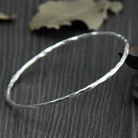 Sterling Silver Bracelet & Bangle, 925 Sterling Silver, 2.2mm, Inner Diameter:Approx 50mm, Length:Approx 6 Inch, Sold By PC