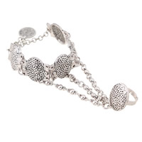 Zinc Alloy Bracelet Ring, with 2lnch extender chain, antique silver color plated, nickel, lead & cadmium free, US Ring Size:7, Length:Approx 7 Inch, Sold By PC