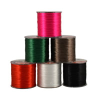 Crystal Thread, with plastic spool, elastic, more colors for choice, 0.8mm, Approx 480m/Spool, Sold By Spool