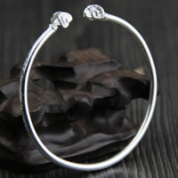 925 Sterling Silver Cuff Bangle, 3.15mm, Inner Diameter:Approx 60mm, Length:Approx 7 Inch, Sold By PC