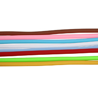Rubber Cord, solid, more colors for choice, 4mm, 10m/Strand, Sold By Strand