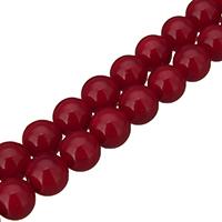 Бусины из ракушек с Южного моря, южноморская ракушка, Круглая, разный размер для выбора, красный, отверстие:Приблизительно 0.1mm, длина:Приблизительно 16 дюймовый, продается Лот