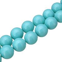 Бусины из ракушек с Южного моря, южноморская ракушка, Круглая, разный размер для выбора, голубой, отверстие:Приблизительно 0.1mm, длина:Приблизительно 16 дюймовый, продается Лот