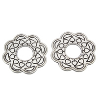 Zinc Alloy Linking Ring Flower antique silver color plated lead   cadmium free 30x1mm Hole:Approx 9mm 100G/Bag